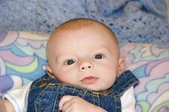 新出生的男婴 免版税库存图片