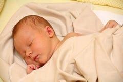 新出生的男婴 库存图片