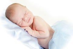 新出生的男孩 库存照片
