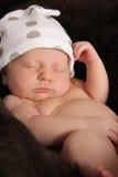 新出生的男婴 图库摄影