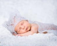 新出生的男婴 库存照片