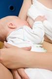 新出生的看护 库存照片
