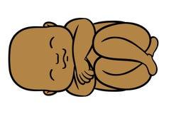 新出生的矮小的非洲的婴孩 免版税库存照片