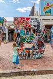 新出生的纪念碑在普里什蒂纳 免版税图库摄影