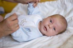 新出生的纵向 免版税库存照片