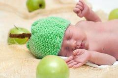 新出生的苹果 库存图片