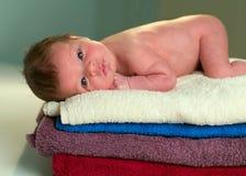 新出生的1个月 库存照片