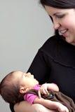 新出生的婴儿 库存图片