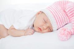 新出生的婴孩一月年龄 免版税库存照片
