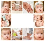 新出生的婴孩拼贴画 免版税图库摄影