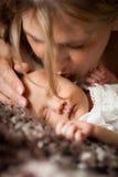 新出生的婴孩 库存照片