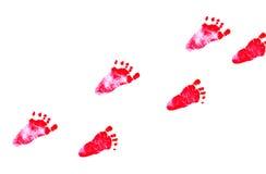 新出生的feetprint 免版税库存图片