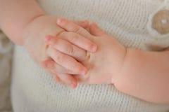 新出生婴孩的英尺 免版税库存图片