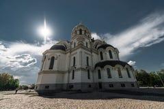 新切尔卡斯特,俄罗斯- 2016年5月9日:上生大教堂在新切尔卡斯特 库存图片