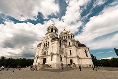 新切尔卡斯特,俄罗斯- 2016年5月9日:上生大教堂在新切尔卡斯特 免版税库存照片
