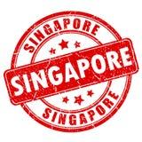 新加坡不加考虑表赞同的人 库存例证
