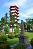 新加坡中国人庭院的塔 免版税库存图片