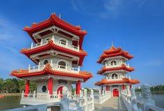 新加坡中国人庭院 免版税库存照片