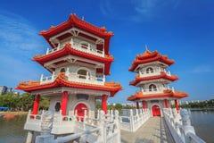 新加坡中国人庭院 库存照片