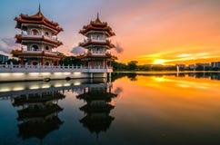 新加坡中国庭院  库存图片