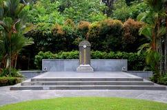新加坡中国战争英雄林MacRitchie水库的Bo Seng坟茔  图库摄影