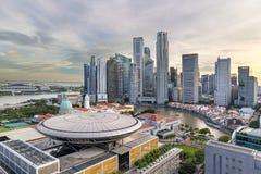 新加坡中心商务区城市地平线 库存图片