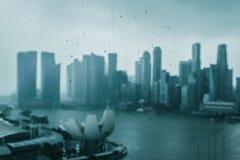 新加坡中心商务区的看法 库存图片
