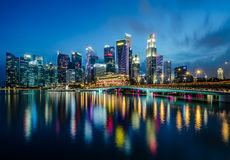 新加坡中心商务区 免版税库存图片