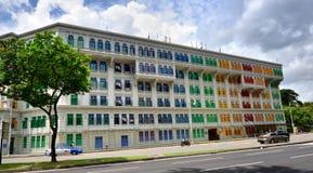 新加坡五颜六色的家 库存图片