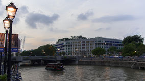 新加坡交通部和信息,河和 免版税图库摄影