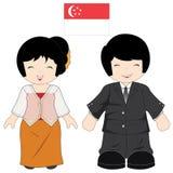 新加坡传统服装 免版税库存照片