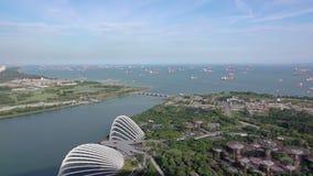 新加坡停泊处的全景  股票录像