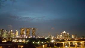 新加坡光 图库摄影