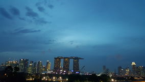 新加坡光 库存照片