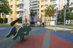 新加坡公共住房儿童的游乐场 图库摄影