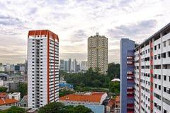 新加坡唐人街公共住房块 免版税图库摄影