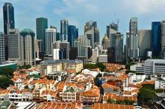 新加坡唐人街和商业区 免版税库存照片