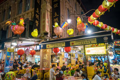 新加坡唐人街食物街道 免版税库存照片