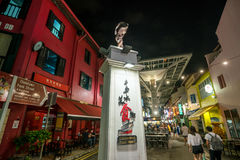 新加坡唐人街食物街道 库存照片