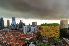 新加坡唐人街鸟瞰图 库存图片