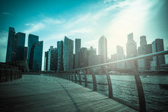 新加坡商业区市地平线街市自白天 图库摄影