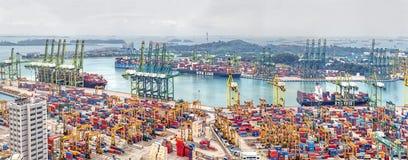 新加坡商业口岸在新加坡 图库摄影