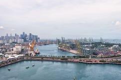 新加坡商务港口 免版税库存照片