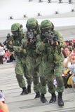 新加坡国庆节游行的预览 免版税库存照片