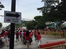 新加坡国庆节第50金黄周年纪念 库存照片