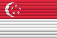 新加坡国旗  免版税库存图片