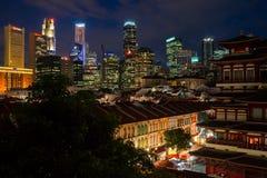 新加坡在Night之前 免版税库存图片
