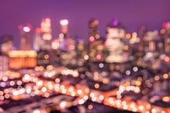 新加坡地平线空中抽象bokeh过滤器从上面 图库摄影
