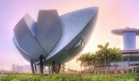 新加坡地平线背景 免版税库存照片