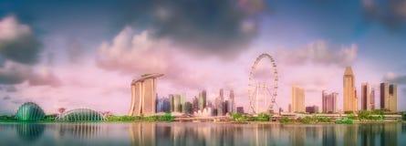 新加坡地平线背景 免版税库存图片